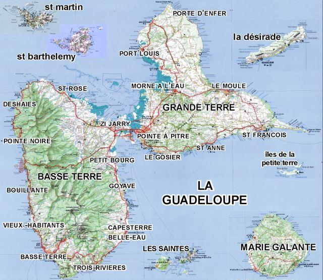 La Géographie de la Guadeloupe