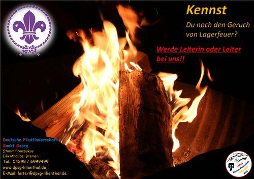 Kennst du noch den Geruch von Lagerfeuer? Werde Leiterin oder Leiter bei uns!!