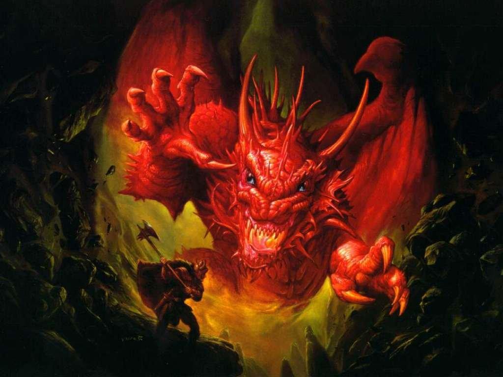 wallpaper fire dragon