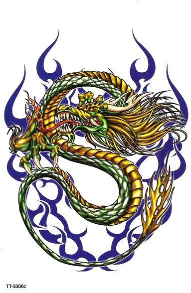 Dragon noir dragon chinois couleur - Dessin dragon couleur ...