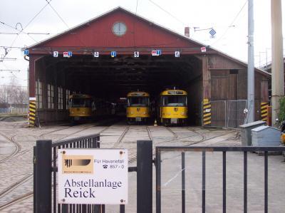 04.03.07/ T4D-MT/ Betriebshof Reick, ein Tag vor dem Abriss der alten Holzhalle