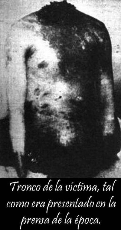 Tronco de la víctima encontrado en Germán Riesco.