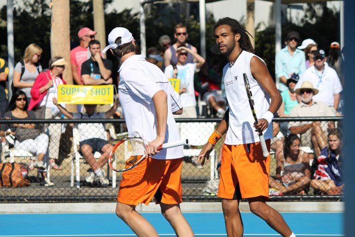 Picture: Grand Slam Australian Open 2011  doubles with Rogier Wassen (NED) copyright Carsten Neuhaus