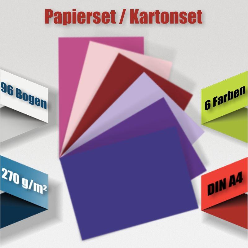 270 g//m² ~ HQ Bastelkarton Kartenkarton Basteln ~ #7001 Kartonset A4 48-tlg.