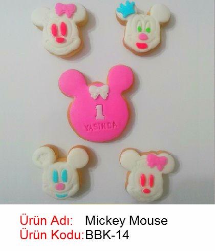 Mickey Mouse bebek kurabiyesi