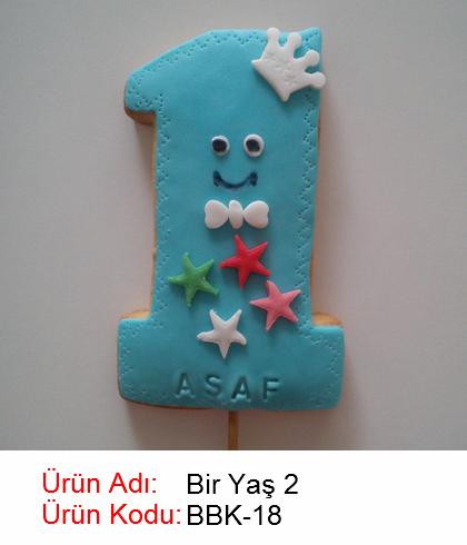 Bir yaş bebek kurabiyesi