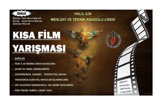 kısa film yarışması, afiş, lise