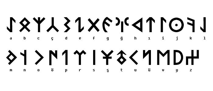 Orhun, Orkun Alfabe, Alfabesi, Türk, Turkish, Alphabet