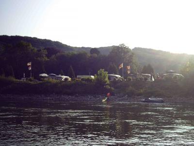 Ankunft am Campingplatz Rolandswerth