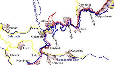 Mittelahrabschnitt ab Kreuzberg bis Walporzheim