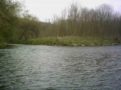 Die Mündung der Sülz in die Agger hinter der BAB Brücke