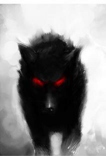 Einfach Zeichnen Bild Dunkler Wolf