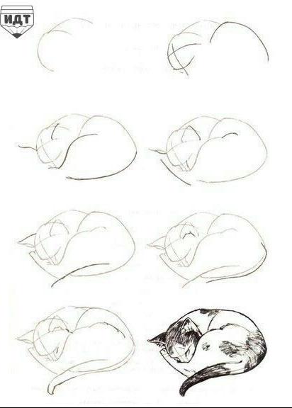 Einfach Zeichnen Schlafend