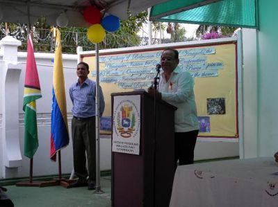 Embajador Dario Morandy y El Bibliotecario Kawall Persaud