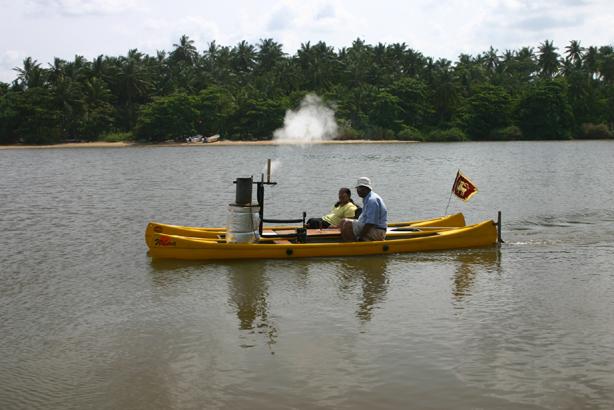 EMCA Combine - Twin Hull Steam Boat