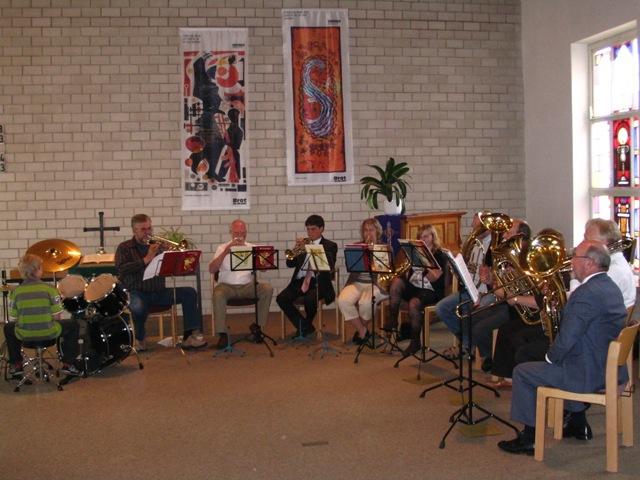Mai 2008 Bläserkreis bei der Einsegnungsfeier für Axel