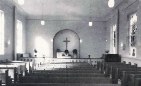 Inneres der Christuskirche 1959