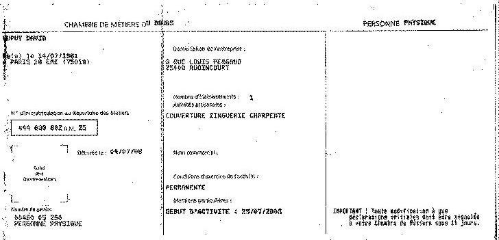 On sait faire documents - Chambre des metiers inscription ...