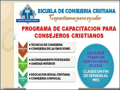 ESCUELA DE CONSEJERIA CRISTIANA - CERTIFICADO CONSEJERO CRISTIANO