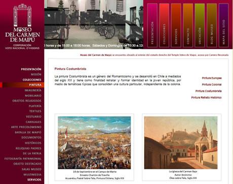 Página web Museo del Carmen de Santiago