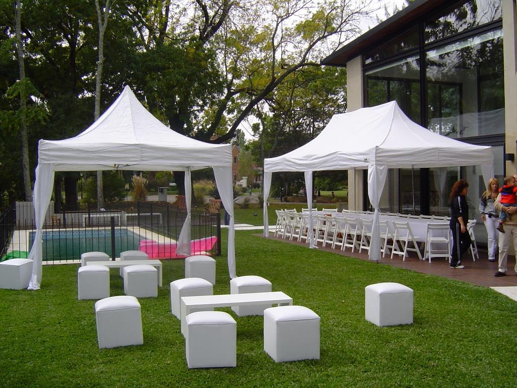 Eventos blancos carpas y gazebos Carpas de madera para jardin