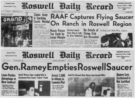 Roswell ve Aztek Ufo Kazaları