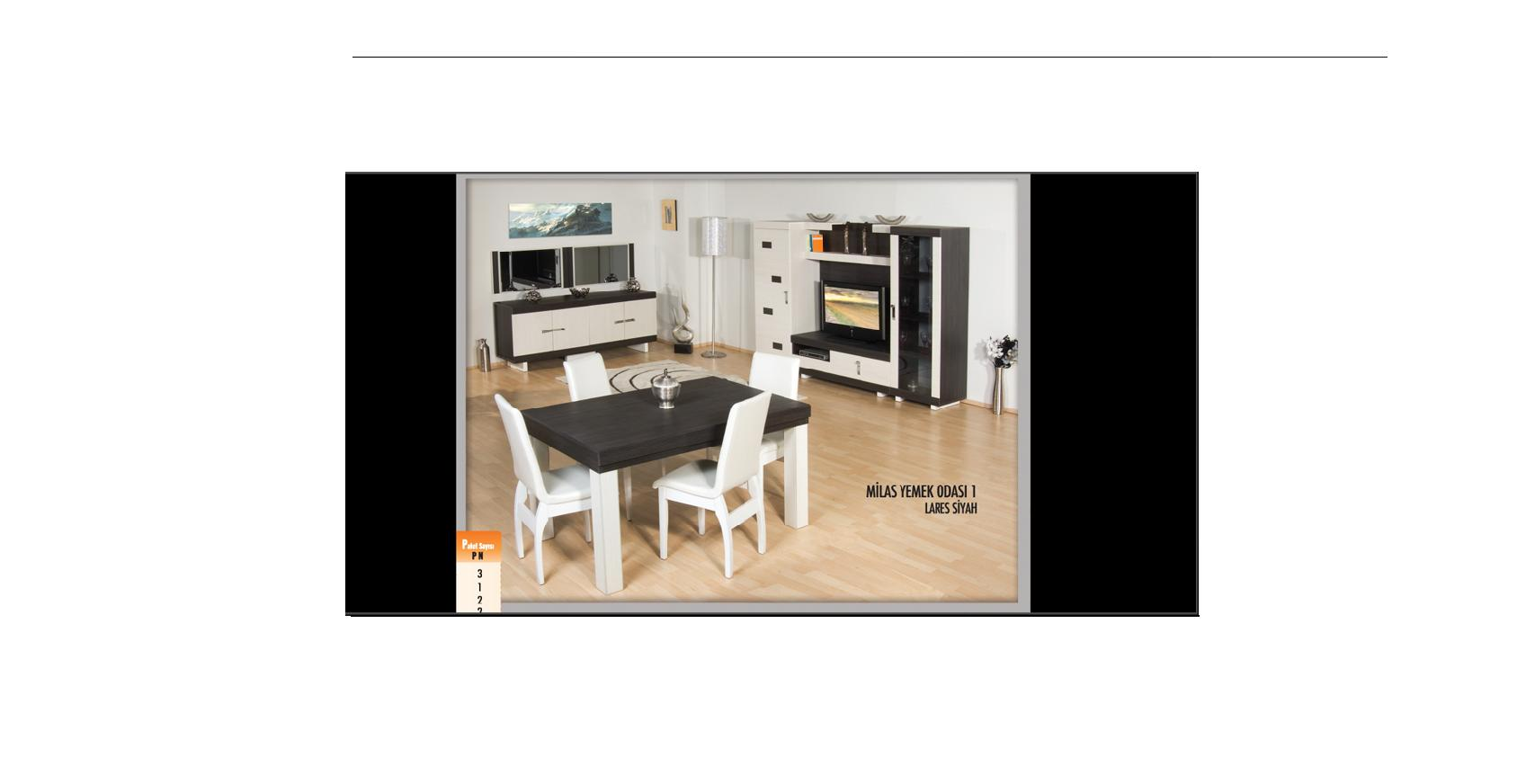 2010 model milas yemek odası