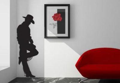 Fantasy deco vinilos decorativos actores y personajes de peliculas y series de tv - Wandtattoo cowboy ...