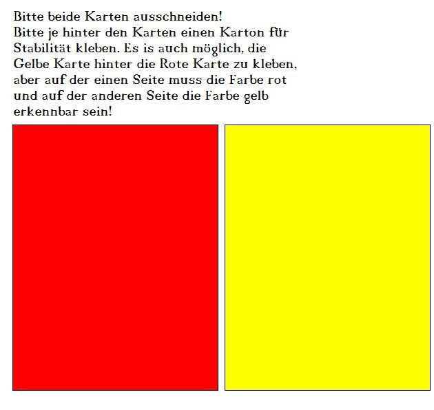 Gelbe Karte Grundschule.Rote Karte Zum Ausdrucken Kalender