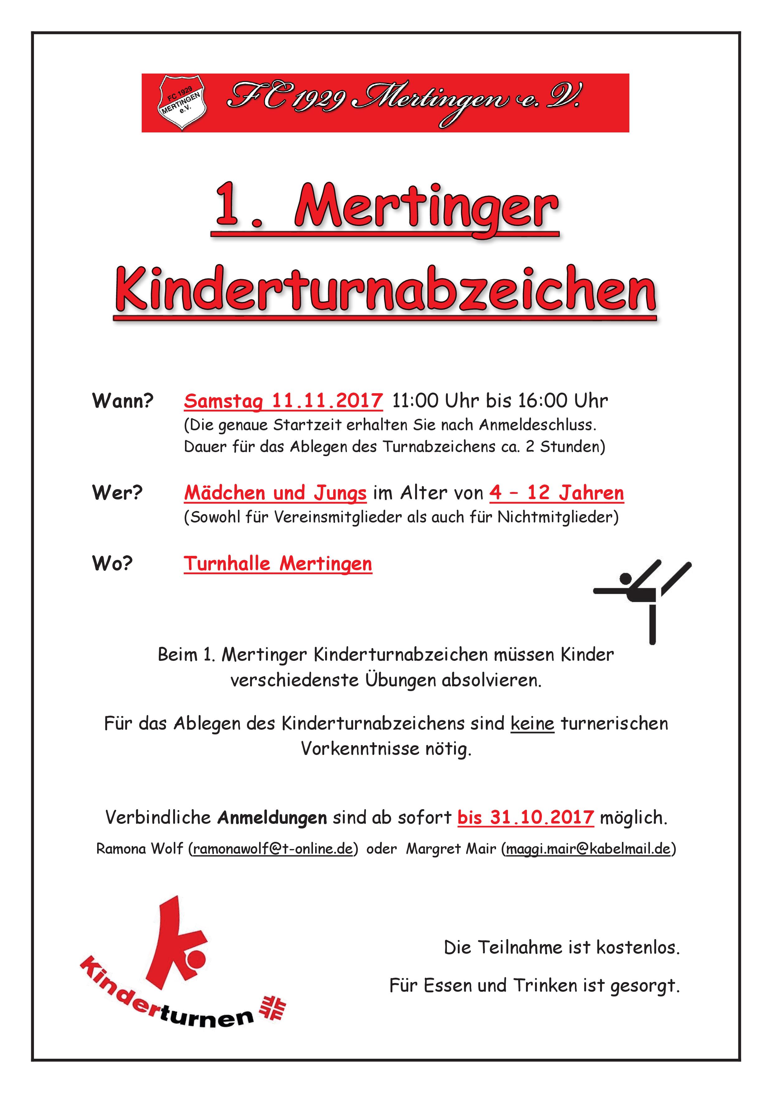 Kinderturnabzeichen FC Mertingen