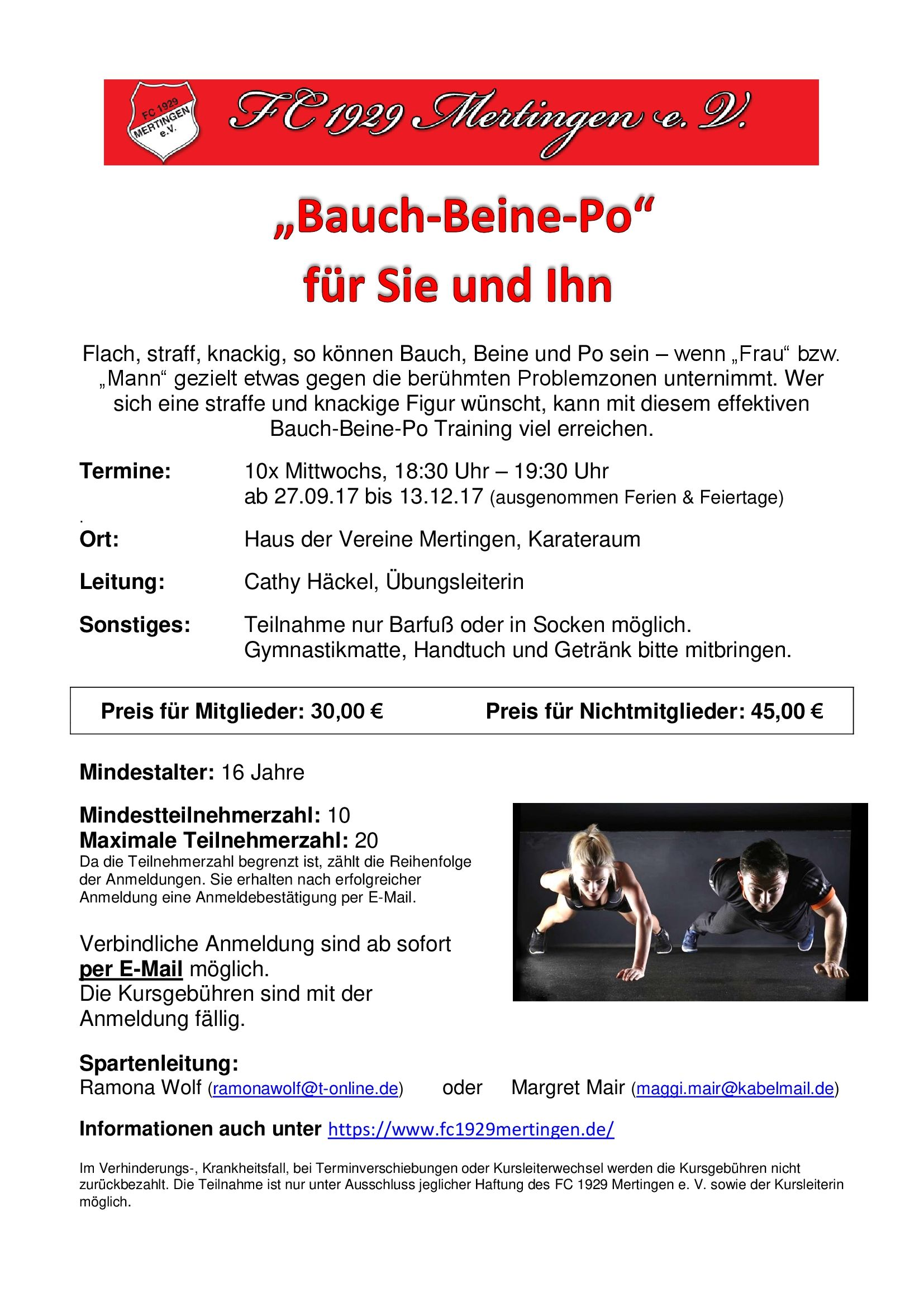 Bauch-Beine-Po FC Mertingen