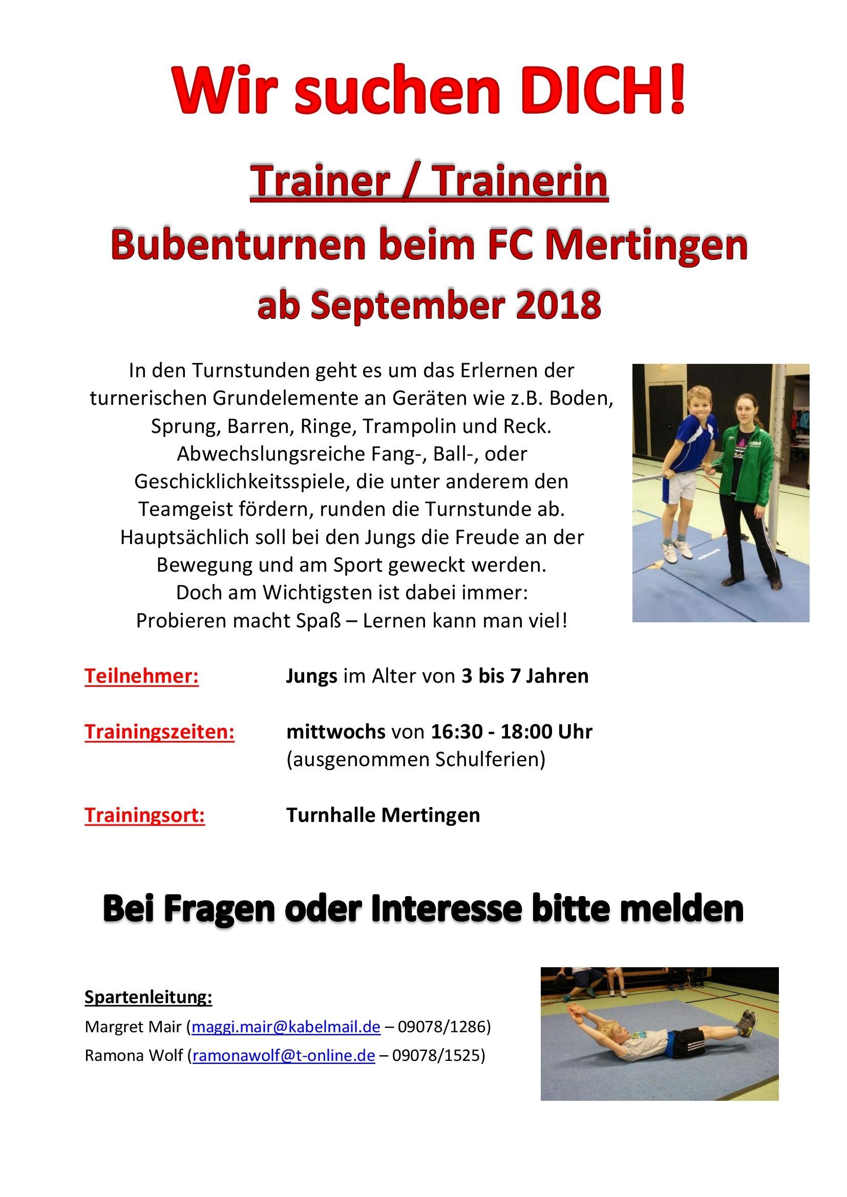 FC Mertingen Bubenturnen