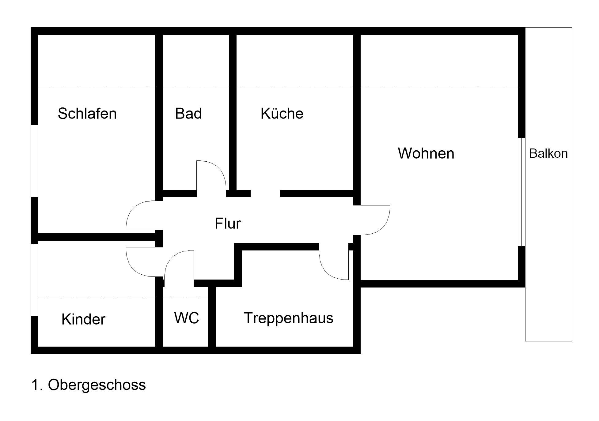 Ferienhaus gisela grundriss for Kinderzimmer 30 qm