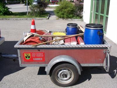 Mehrzeweckanhänger - hier Ölschaden und Transport