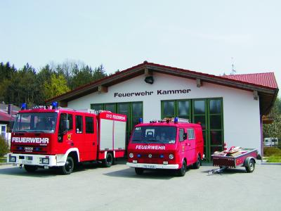 Derzeitiger Fuhrpark der Feuerwehr Kammer