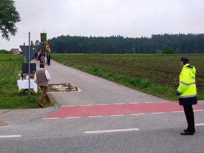 Verkehrsabsicherungsmaßnahmen auf der TS 1 während des Flurumgangs