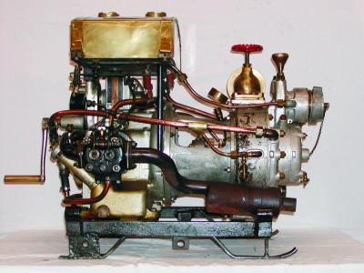 Erste Motorpumpe der Feuerwehr Kammer (Hersteller: Gugg)