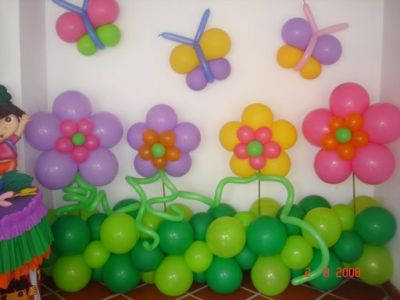 Fiesta entrete kids decoraciones con globos for Decoracion dia del estudiante