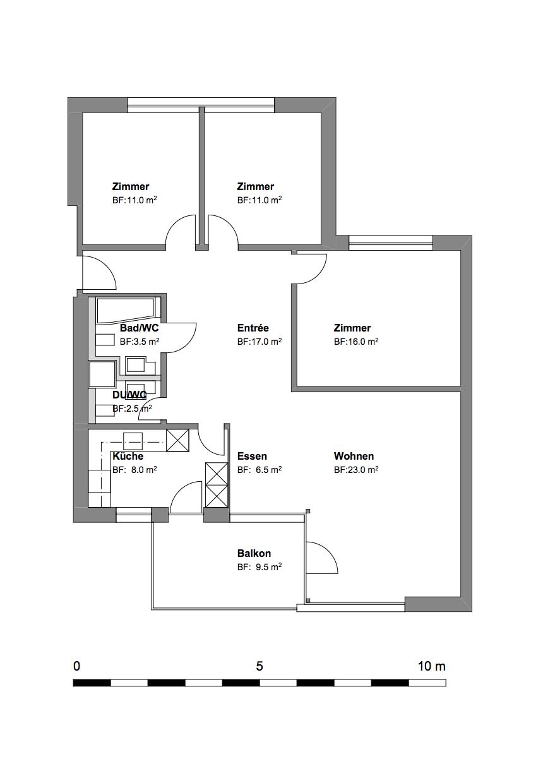 Wohnung; Grundriss