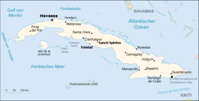Karte Kuba