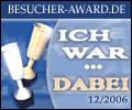 Award: Besucher-Award.de -> Ich war dabei!