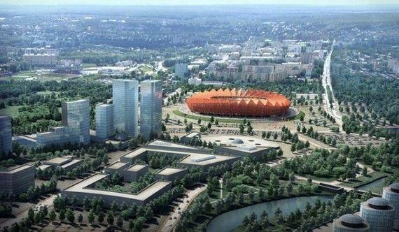 Estadio de Saransk en Rusia para el mundial de futbol
