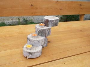 gdańsk świeczniki z drewna