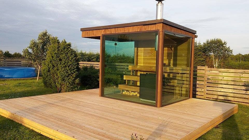 gartensauna saunafass badefass sauna glas sauna. Black Bedroom Furniture Sets. Home Design Ideas