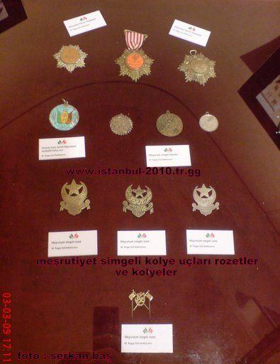 madalyalar mesrutiyet