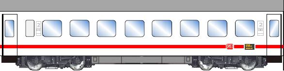 Bastelbogen InterCity Wagen