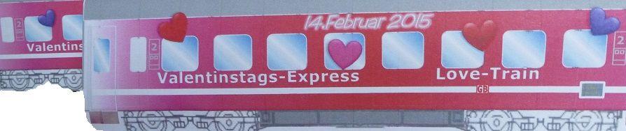 Bastelbogen Valentinstagszug