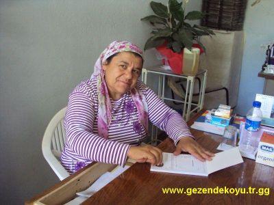 Gezende Köyü Muhtarı Meral ÇELİK