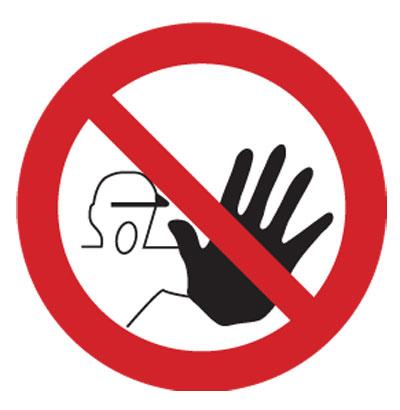 Proibida a entrada a pessoas estranhas à obra