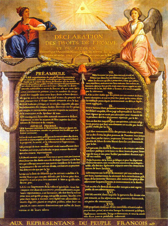İnsan ve Yurttaş Hakları Bildirisi (Declaration of the Rights of Man and of the Citizen, La Déclaration des droits de l'Homme et du citoyen)